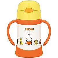 膳魔师 THERMOS 真空隔热宝宝用吸管杯 FHI-250B 黄色250ml 适用于9个月~ 保温瓶构造保冷防漏