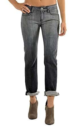 Standards & Practices Modern 女士灰色弹力牛仔渐变色 X-Boyfriend 牛仔裤 灰色 27 x 32Length