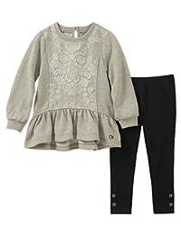 Calvin Klein 幼儿女童2件上衣裤子套装