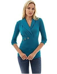 pattyboutik 女式青果领褶皱细节衬衫