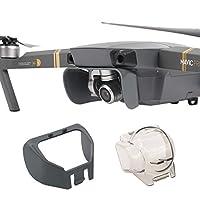 XtremeAmazing DJI Mavic Pro无人机镜头遮光罩遮阳罩+相机万向架保护罩锁护罩
