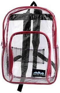 17 英寸红色饰边儿童透明背包
