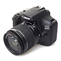 Canon 佳能 EOS 4000D Kit 18-55mm DC III 镜面反射相机,黑色