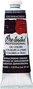 Grumbacher 预测试油画 7 37 ml Quinacridone 橙色