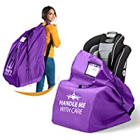 Car Seat Storage Bag for Air Travel - 100% Waterproof 600D Nylon Fabric + Adjustable Backpack Strap - Make Travel Easier with a Durable Gate Check Bag Cover for Flight Check In - 18x18x34 inch