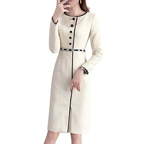 DAQISIフランス語の少数民族の女性は春2019新しい小さなドレス新鮮な気質フレンチレトロウエストロングスカートスリムドレスハイウエストスリムファッションドレスウエストデザイン4632