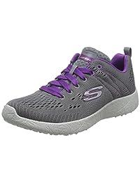 Skechers 斯凯奇 BURST系列 女 绑带运动鞋 12434/GYPR 灰色/紫色 39 (US 9)