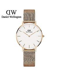 丹尼尔惠灵顿 DanielWellington DW手表新款32mm金色边白盘不锈钢米兰风格表带 瑞典品牌 专柜同款 (DW00100163)