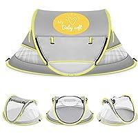 (MyBABYSOFT) 婴儿沙滩帐篷:UPF 50+,蚊帐,游戏区,*/睡觉,户外旅行,吸湿排汗面料,带有防风钉