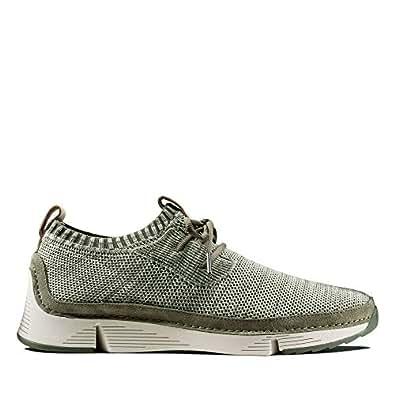 Clarks 男士 Tri Native 高帮运动鞋 Grün (Olive Combi) 42.5 EU