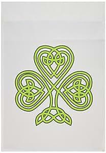 fl_108308 EvaDane - St, Patricks Day - Celtic Shamrock - Flags 12 x 18 inch Garden Flag