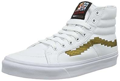 Vans Unisex Adults' Sk8 Slim Hi-Top Sneakers White (Nintendo Console/Gold) 2.5 UK