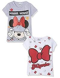 Disney 迪士尼女童米妮 T 恤(2 件装)