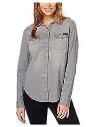 Calvin Klein JEANS 女式长袖牛仔衬衫