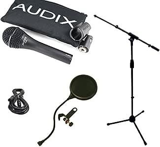 Audix OM6 麦克风套装,带麦克风吊架,XLR 电缆和流行过滤器波塞