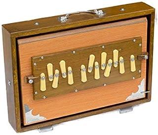 Shruti 盒子,Maharaja 音乐,专业品质,13 x 9.5 x 3 英寸,自然色,13 音符,Sur Peti,Shruthi 盒子,良好的维持,带袋子(PDI-AGB)