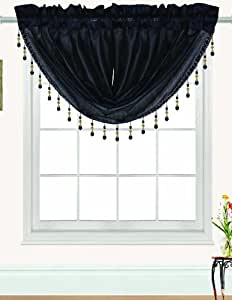 RT Designers Collection Nikki Valance, 47 by 37-Inch, Black