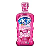 ACT Kids Anticavity Fluoride Mouthwash, Bubble Gum Blow Out 16.9 oz. (Pack of 4)