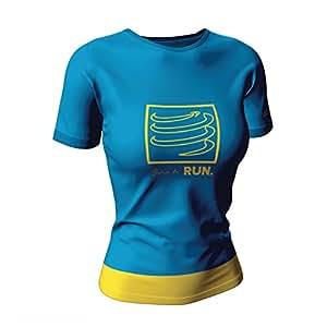 Compressport 女士 运动员训练T恤 为跑而生 特别限量版 CS-TSTNW-LTD17-0XS 蓝色 XS