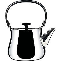 Alessi Cha NF01设计茶壶 不锈钢和热塑性树脂 抛光