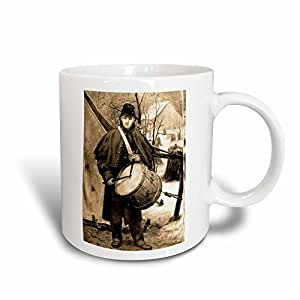 3dRose Civil War Drummer Boy Sepia tone Magic Transforming Mug, 11-Ounce