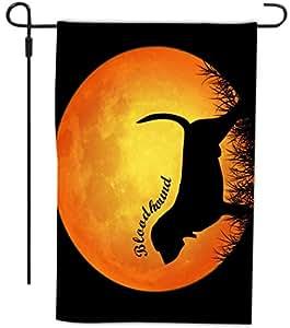 Rikki Knight Bloodhound Dog 剪影月设计 装饰房屋或花园全出血旗,30.48 x 45.72 厘米