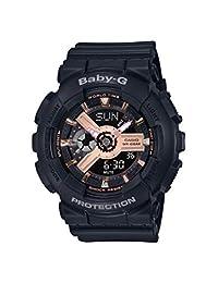 CASIO 女式模拟数字石英手表树脂表带 BA-110RG-1AER