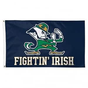 Notre Dame Fighting Irish with Leprechaun NCAA 7.62 x 12.7m 豪华横幅旗帜