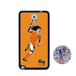 古力特 足球运动员图案浮雕设计风格 塑料+TPU手机壳 手机套 适用于 三星Samsung Galaxy Note3 N9000 赠送2.3英寸美国风格卡通胸章
