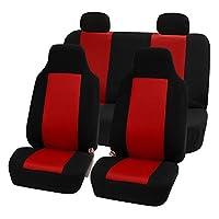 FH Group FB102GRAY114 灰色 3D 透气网汽车座椅套(全套) 红色 FB102RED114