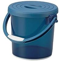Inomata 化学 带盖浴缸 水泡 5L 约27.4×24.8cm 3222 透明蓝色 3222