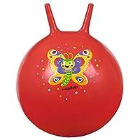 摩西 16129 爬行虫跳球 蝴蝶 红色 摇篮球 适合4岁以上儿童 | 室内和室外玩具 用于坐和跳跃