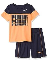 Puma 男童 T 恤和短裤套装