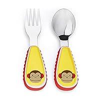美国 SKIP HOP 可爱动物园餐具叉和勺 猴子SH252352