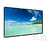 室外投影屏幕,Yeeco 120 英寸 16:9 便携式投影屏幕可折叠高清电影投影机屏幕支持双面投影适用于户外露营派对