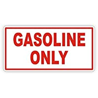 仅含汽油乙烯基贴花 | 贴纸 | 燃油气门标签防风雨