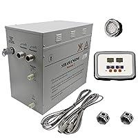 高级 12kW 自动排水蒸汽淋浴器,带防水可编程控制和 2 个带自由光线的镀铬蒸汽插座