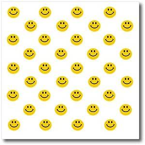 inspirationz Store 微笑脸系列–黄色笑脸图案–可爱传统快乐 smilies–1960s 嬉皮风格微笑 smileys–熨烫热转印
