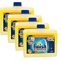 Finish 洗碗机清洁剂,8.45盎司瓶装,双效去油脂和水垢,新鲜柑橘(4件装)