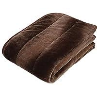 京都西川 铺垫 可洗 保暖 铺垫 光滑 法兰绒 2AJC6803 D 米色 ダブル 140×205cm 2AJC6803 D