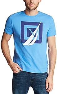 Nautica 男士短袖 * 純棉航海系列圖形 T 恤