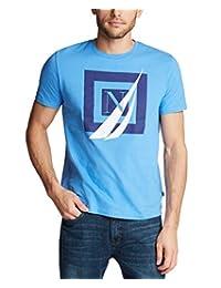 Nautica 男士短袖 * 纯棉航海系列图形 T 恤
