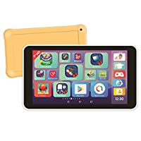 Lexitab Master - 7英寸儿童平板电脑(17.8厘米)带学习应用程序、游戏和控制父母 - 保护套包括Android、WLAN、蓝牙、Google Play、YouTube、白色/黄色,MFC149FR