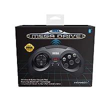 Retro-Bit Official SEGA Mega Drive Bluetooth Control Pad 黑色 個人電腦/工作站
