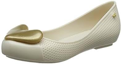 ZAXY NEW POP BEAUTY系列 女 芭蕾鞋 82353-ZAXY NEW POP BEAUTY FEM-BEIGE/GOLD-38 米黄色/金色 38(亚马逊进口直采,巴西品牌)