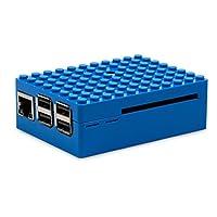 树莓派外壳 Raspberry Pi 外壳 适用B+/2B/3B 彩色 通用乐高外壳 (蓝色, 88.8*64.5*30.5mm)