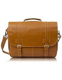 rockdale 经典笔记本电脑邮差包–公文包设计适合 laptops 15.24cm 24英寸和 UP TO 39.6cm Saddle Tan 均码