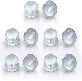 优质耳坠升降器 12 件透明耳坠背面*硅胶低*性,易于用于耳坠坠坠。