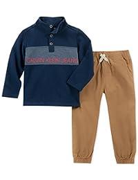 Calvin Klein 男童 2 件套套头裤套装