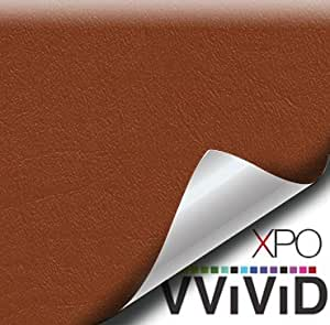 "VViViD 浅棕色防水人造皮革表面海洋乙烯基面料 棕色 1.5ft x 54"" vvmarineltbrwn_1.5x60"